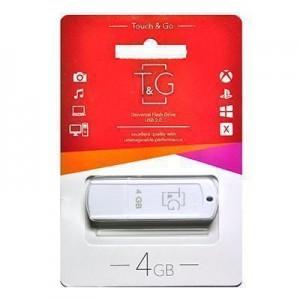 Накопичувач USB 4GB T&G Classic серiя 011 білий