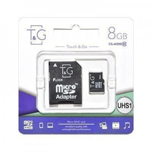 T&G micro SDHC (UHS-1) карта памяти 8GB class 10 (с адаптером)
