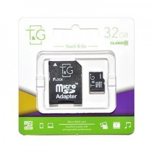 T&G micro SDHC (UHS-1) карта памяти 32GB class 10 (с адаптером)