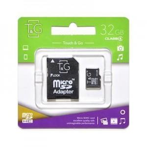 T&G micro SDHC карта памяти 32GB class 4 (с адаптером)