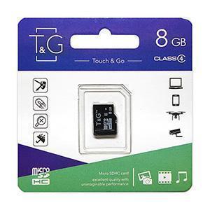 Карта пам'яти microSDHC 8GB class 4 T&G (без адаптерів)