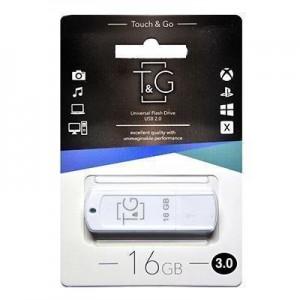 Накопичувач 3.0 USB 16GB T&G Classic серiя 011 білий