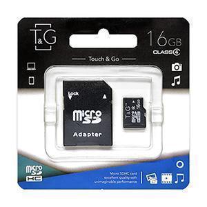 Карта пам'яти microSDHC 16GB class 4 T&G (з адаптером)
