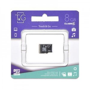 T&G micro SDHC карта памяти 8GB class 4 (без адаптеров)