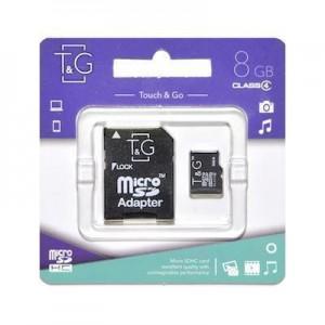 T&G micro SDHC карта памяти 8GB class 4 (с адаптером)