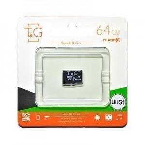 Карта пам'яти microSDHC (UHS-1) 64GB class 10 T&G (без адаптерів)