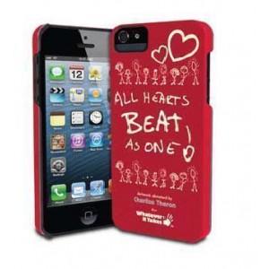 Премиум-чехол для iPhone 5/5S (твердый) - Charlize Theron