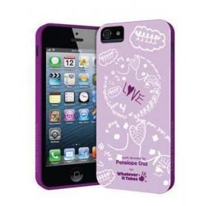 Премиум-чехол для iPhone 5/5S (гелевый) - Penelope Cruz