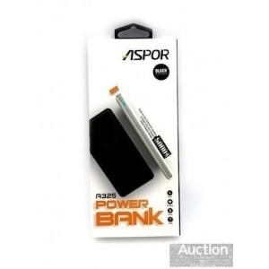 Power Bank Aspor- A325 5000mAh iQ (2USB/1A+2.0А)- чёрный