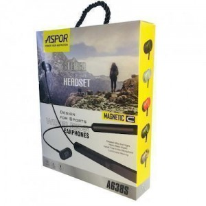 Bluetooth наушники Aspor- A638S золото