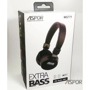 Bluetooth наушники Aspor- MS-771 голубой