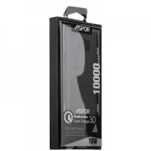 Power Bank Aspor- Q388 10000mAh (Qualcomm 3.0 2USB/2.4A+3А) metal- чёрный