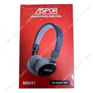 Bluetooth наушники Aspor- MS-881 голубой