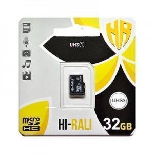 Карта пам'яти microSDHC  (UHS-3) 32GB class 10 Hi-Rali (без адаптерів)