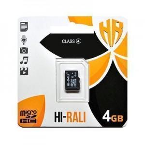 Карта пам'яти microSDHC 4GB class 4 Hi-Rali (без адаптерів)