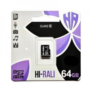 Карта пам'яти microSDHC 64GB class 10 Hi-Rali (без адаптерів)