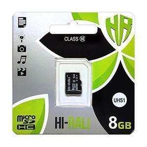 Карта пам'яти microSDHC (UHS-1) 8GB class 10 Hi-Rali (без адаптерів)