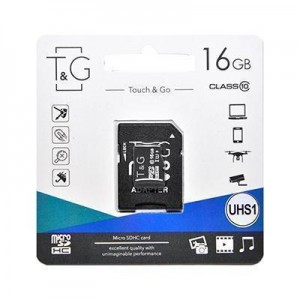 T&G micro SDHC (UHS-1) карта памяти 16GB class 10 (с адаптером)