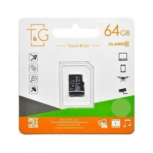 Карта пам'яти microSDHC 64GB class 10 T&G (без адаптерів)