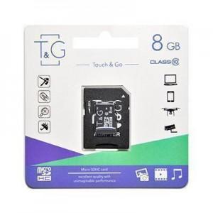 T&G micro SDHC карта памяти 8GB class 10 (с адаптером)