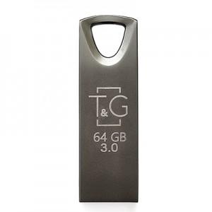 Накопичувач 3.0 USB 64GB T&G металева серія 117 чорний