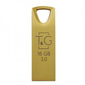 Накопичувач 3.0 USB 16GB T&G металева серія 117 золото