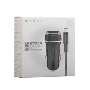 Авто Зарядное Устройство Borofone BZ2 Micro 2 USB 2.4A