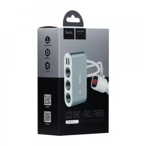 Авто Зарядное Устройство Hoco Z13 LCD