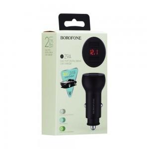 Авто Зарядное Устройство Borofone BZ9A Digital Display 2USB 3.1A