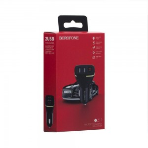 Авто Зарядное Устройство Borofone BZ11 Digital Display 2USB 2.1A