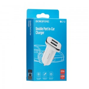 Авто Зарядное Устройство Borofone BZ12 2.4A 2 USB