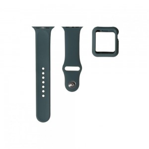 Ремешок для Apple Watch Band Silicone One-Piece + Protect Case 44mm