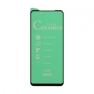 Защитное стекло Film Ceramic for Samsung A21s без упаковки