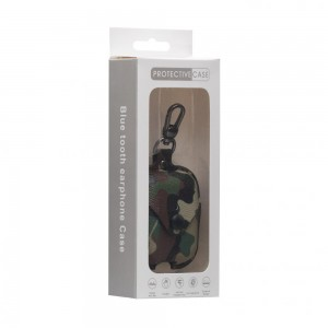 Футляр для наушников Airpod 1/2 Camouflage Leather