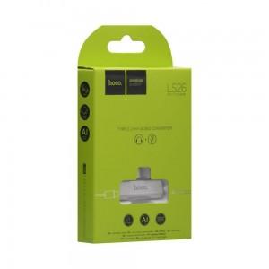 Переходник Hoco LS26 Type-C 2in1 Audio Converter