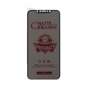 Защитное стекло Film Ceramic AntiSpy for Apple Iphone 11 Pro Max / Xs Max без упаковки
