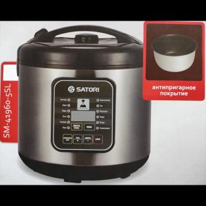 Мультиварка Satori SM-41960-5SL, 900Вт/5л/антипригарне покриття/41 режим приготування Satori 41960-5SL