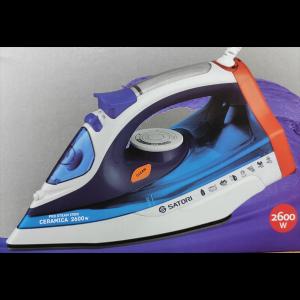 Праска Satori SI-2620-BL 2600 Вт/керамика/антикапля/350 мл резервуар для воды/верт.отпаривание Satori 2620-BL