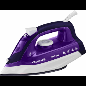 Праска 2 кВт, нерж., паровий удар, вертикальне відпарювання ViLgrand VEI0203_purple