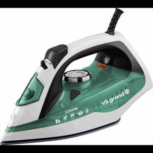 Праска 2,2 кВт, кераміка, вертикальне відпарювання ViLgrand VEI0225_green