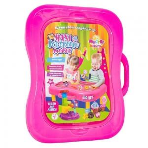Набор для творчества Мистер тесто  подарочный чемоданчик, 26 элем., розовый (71308)