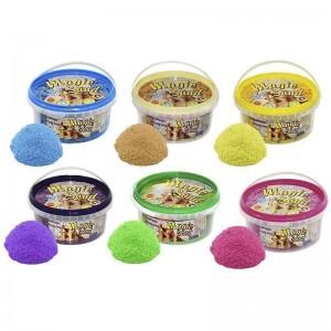 Magic sand - MIX 6 цветов, ведро 350 г (036-1)