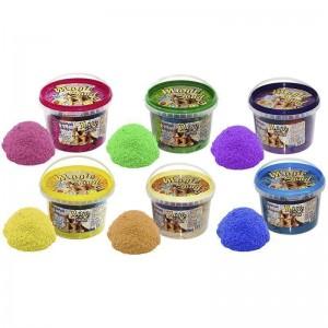 Magic sand - MIX 6 цветов, ведро 0,5 кг (036-2)