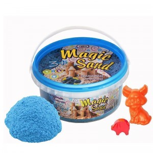 Magic sand - голубого цвета с ароматом черники.Ведро 350 г (370-10)