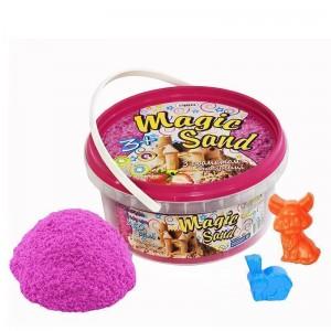 Magic sand - розового цвета с ароматом клубники.Ведро 350 г (370-11)