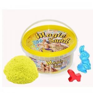 Magic sand - желтого цвета с ароматом банана.Ведро 350 г (370-12)