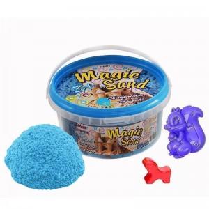 Magic sand - светится в темноте, голубого цвета.Ведро 350 г (370-8)