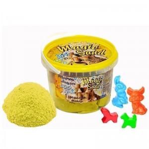 Magic sand - желтого цвета с ароматом банана.Ведро 0,5 кг (371-12)