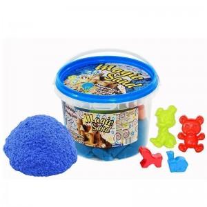 Magic sand - светится в темноте, голубого цвета.Ведро 0,5 кг (371-8)
