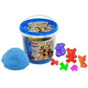 Magic sand - голубого цвета с ароматом черники.Ведро 1 кг (372-10)